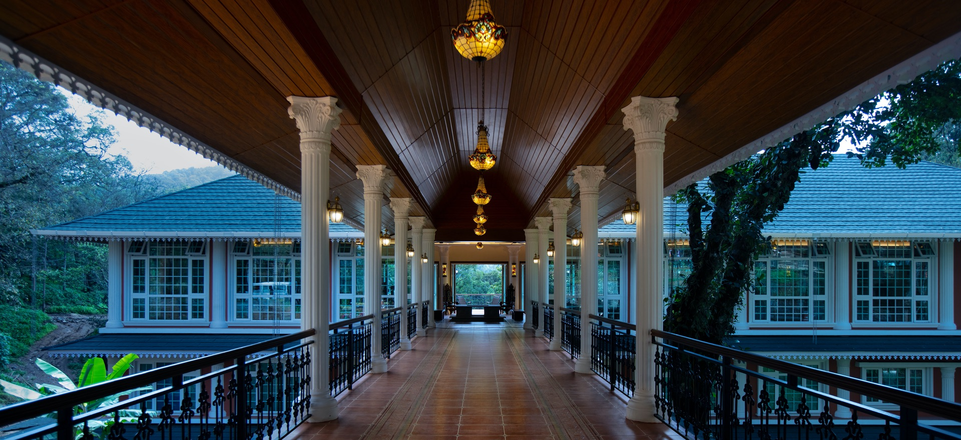 Porch to lobby - Coorg Wilderness Resort